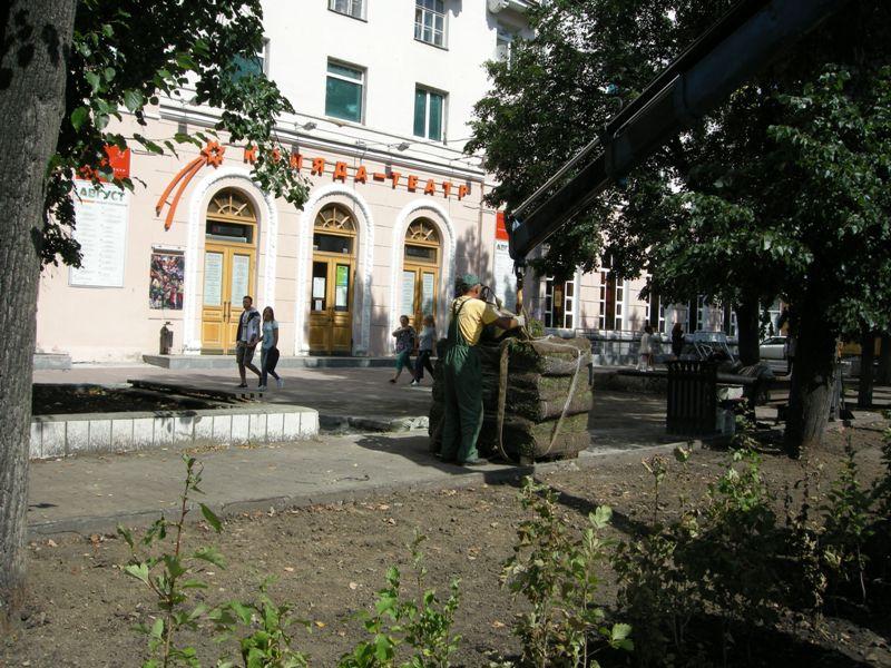 Рулонный газон Коляда-Театр г. Екатеринбург