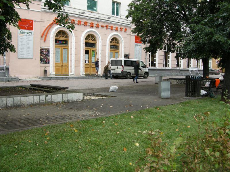 Благоустройство сквера. Рулонный газон. г. Екатеринбург