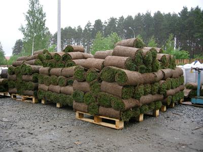 Хранение рулонного газона